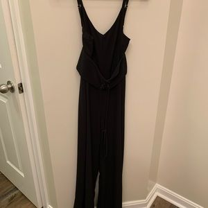Black jumpsuit.